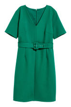 H&M+ V-neck dress - Dark green - Ladies | H&M 2