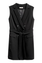 H&M+ Long sleeveless jacket - Black - Ladies | H&M 2