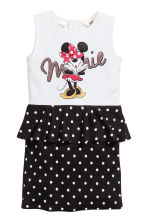 Jersey dress - White/Minnie Mouse - Kids | H&M CN 2