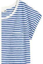 Short-sleeved top - White/Blue striped -  | H&M 3