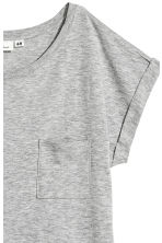 Short-sleeved top - Grey marl - Ladies | H&M 3