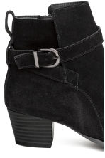 Suede ankle boots - Black - Ladies | H&M 5
