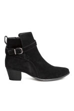 Suede ankle boots - Black - Ladies | H&M CN 2