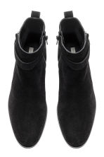 Suede ankle boots - Black - Ladies | H&M CN 3