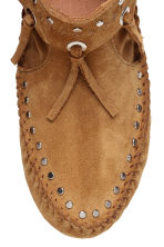 Suede moccasin ankle boots - Camel - Ladies | H&M CN 3