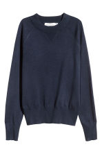 Fine-knit top - Dark blue -  | H&M 2