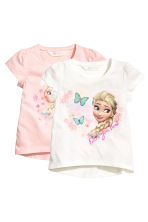 Lot de 2 tops en jersey - Blanc/La Reine des Neiges - ENFANT | H&M FR 2