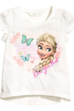 Lot de 2 tops en jersey - Blanc/La Reine des Neiges - ENFANT | H&M FR 4