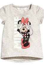 2-pack jersey tops - Light grey/Minnie Mouse - Kids | H&M CN 4