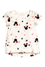 2-pack jersey tops - Light grey/Minnie Mouse - Kids | H&M CN 3