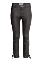 Coated trousers with lacing - Black - Ladies | H&M 2