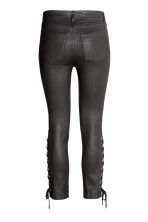 Coated trousers with lacing - Black - Ladies | H&M 3