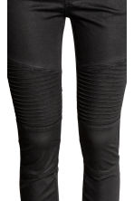 Lyocell-blend biker trousers  - Black - Ladies | H&M CN 4