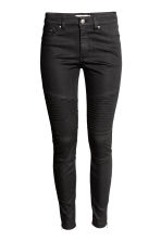 Lyocell-blend biker trousers  - Black - Ladies | H&M CN 2