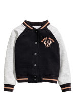 Cotton baseball jacket - Black/Minnie Mouse - Kids | H&M CN 2
