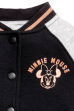 Cotton baseball jacket - Black/Minnie Mouse - Kids | H&M CN 4