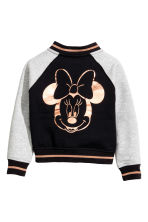 Cotton baseball jacket - Black/Minnie Mouse - Kids | H&M CN 3