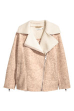 Wool-blend biker jacket - Light beige marl - Ladies | H&M 2