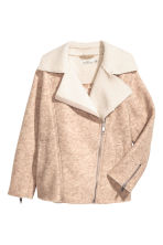 Wool-blend biker jacket - Light beige marl - Ladies | H&M 3