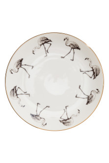 Printed porcelain plate