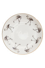 Assiette en porcelaine - Blanc/flamant rose - Home All | H&M FR 1