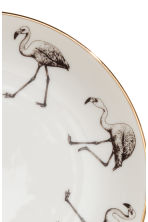 Assiette en porcelaine - Blanc/flamant rose - Home All | H&M FR 2