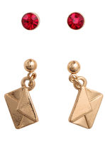 8 pairs earrings - Gold/Red - Ladies | H&M CN 2