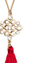 Long necklace - Gold/Red - Ladies | H&M CN 2