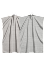 Lot de 2 torchons - Gris/motif - Home All | H&M FR 2
