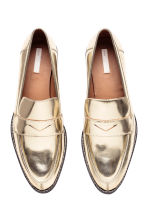 Leather loafers - Gold - Ladies | H&M CN 3