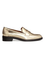 Leather loafers - Gold - Ladies | H&M CN 2