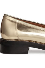 Leather loafers - Gold - Ladies | H&M CN 5