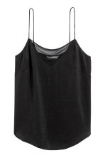 Strappy top with mesh detail - Black - Ladies | H&M CN 2