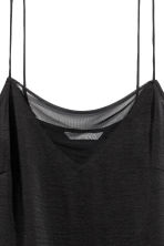 Strappy top with mesh detail - Black - Ladies | H&M CN 3