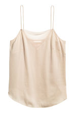Strappy top with mesh detail - Light beige - Ladies | H&M 2