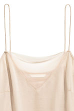 Strappy top with mesh detail - Light beige - Ladies | H&M 3