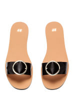 Slider sandals - Black - Ladies | H&M 3