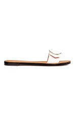 Slider sandals - White - Ladies | H&M 1