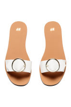 Slider sandals - White - Ladies | H&M 2