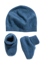 Cashmere-blend hat and bootees - Blue - Kids | H&M CN 2