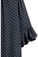 Blouse with flounced sleeves - Dark blue/Spotted - Ladies | H&M CN 3