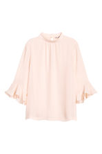 Blouse with flounced sleeves - Powder pink -  | H&M 2