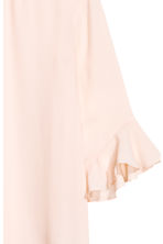Blouse with flounced sleeves - Powder pink -  | H&M 3