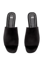 Peep-toe mules - Black - Ladies | H&M CN 3