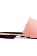 Peep-toe mules - Powder pink - Ladies | H&M CN 4