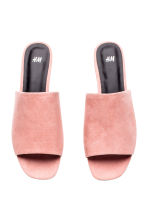 Peep-toe mules - Powder pink - Ladies | H&M CN 2
