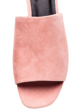 Peep-toe mules - Powder pink - Ladies | H&M CN 3