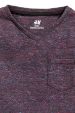 Long-sleeved T-shirt - Dark purple marl -  | H&M 3