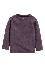 Long-sleeved T-shirt - Dark purple marl -  | H&M 2
