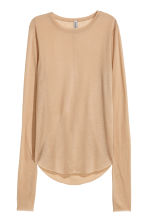 Top in a lyocell blend - Beige - Ladies | H&M 2